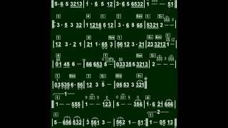 5.黃昏的故鄉(C)薩克斯風教學(簡譜)