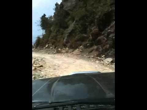 Driving into the langtang