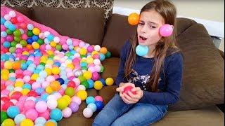 Crazy Balls  Everywhere ! Skit with Plastic Balls