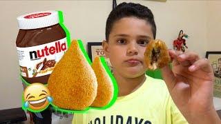 Hummm!! Coxinha de Nutella!!