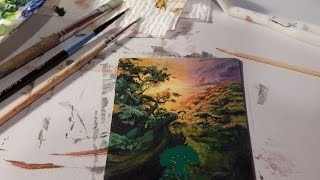 Altering an MTG Basic Land - Forest into A Full Art Card