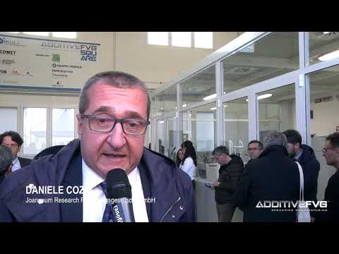 Inaugurazione Additive FVG Square - Intervista a Daniele Cozzi, Joanneum Research Graz