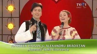 Andreea Haisan şi Alexandru Brădăţan - Savetucă (Cu drag... de Dragobete - TVR1)