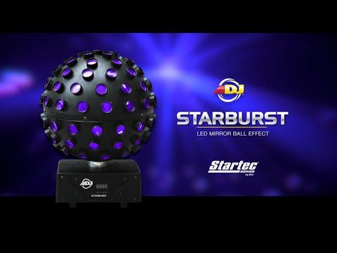 American Dj Starburst Rgbwa Uv Led Mirror Ball Effect