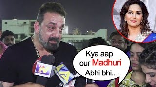 Angry Sanjay Dutt Walks Away When Asked About Madhuri Dixit