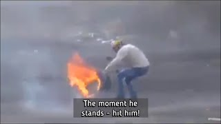 Israeli Forces Duck Shooting Palestinian Demonstrators, Using Live 0.22 Caliber Ammo