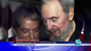 Repercuciones por la muerte de Fidel Castro en el Suroeste de Florida