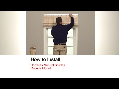How to Install Corded Natural Shades - Outside Mount