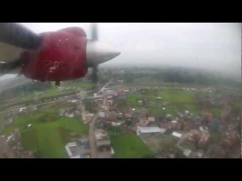 Landing at Kathmandu, Nepal
