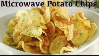 Potato Wafers / Chips in Microwave Recipe