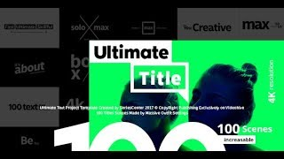 Ultimate Text   100 Titles Animation After Effects Template
