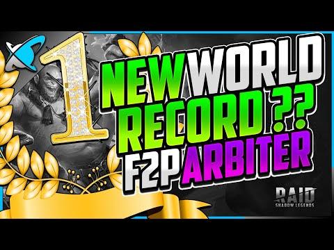 "NEW WORLD RECORD!? | Fastest ""FREE TO PLAY"" Arbiter | Rage Whale Alt Showcase | RAID: Shadow Legends"