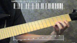 Metatonal Music: 16-tone Seven-String Microtonal Lemba Guitar