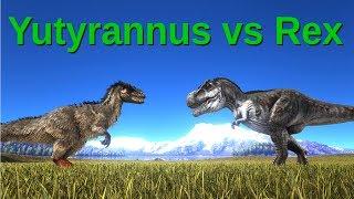 Yutyrannus VS Rex || ARK: Survival Evolved || Cantex