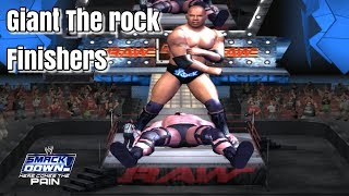 Giant The Rock Finishers In WWE SmackDown! Here Comes The Pain (2003)