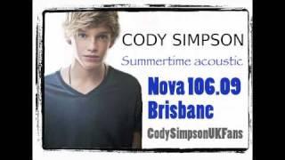 Cody Simpson- Summertime (acoustic) Nova 106.9 Brisbane