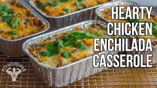 Healthy & Hearty Chicken Enchilada Casserole / Cazuela de Enchilada de Pollo