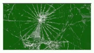 glass panel shatters - green screen effect