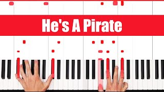 He's A Pirate Piano - Play Through SLOW