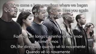 See You Again - Wiz Khalifa (Letra/Tradução)