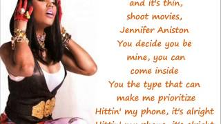 Nicki Minaj I Wanna Be With You Verse Lyrics