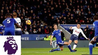 Heung-min Son puts Spurs ahead with a perfect strike v. Leicester City | Premier League | NBC Sports