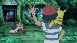 Pokemon: Sun and Moon | Ash Helps Litten Battle Persian!