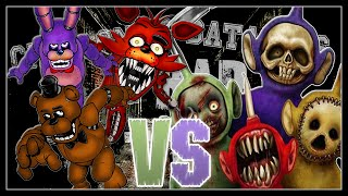 Five Nights at Freddy's vs Slendytubbies. Chingonas Batallas de Rap de Titanes | Zoiket