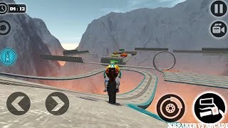Impossible Motor Bike Tracks | All Levels Completed Impossible Stunts 2019 - Android GamePlay FHD