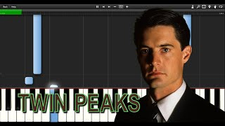 Twin Peaks Theme - Synthesia - Piano Tutorial - Beginner