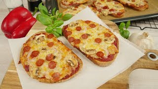Brot Pizza | Pizzabrot mal anders | Leckeres Blitz-Rezept