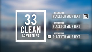 Adobe After Effects - 33 Clean Lower Third |FREE TEMPLATE|
