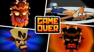GAME OVER en Juegos De Crash Bandicoot (Español) - Fin Del Juego