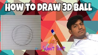 how to draw 3d  ball - with simple lines