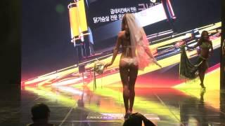 Musclemania Fitness Korea Sports Model Bikini Competition Body Profile Video 비키니 예선 머슬마니아 도연주 선수