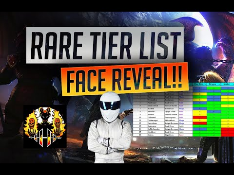 RAID: Shadow Legends | RARE TIER LIST & HELLHADES FACE REVEAL (finally!!!)