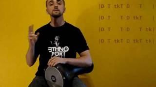 Darbuka Lesson 2 - maqsuum rhythm & variations [B]