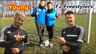 YOUNG F2 FREESTYLERS - Football freestyle double duo. Tricki freestyle #f2 #mini f2  #teamfk