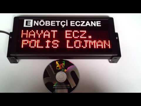 LED Dijital Eczane nöbetçi panosu.1 yıllık hafıza otomatik olarak ekranda gösterir