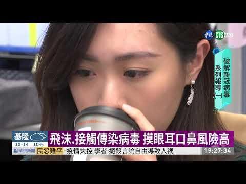 飛沫.接觸傳染病毒 摸眼耳口鼻風險高 | 華視新聞