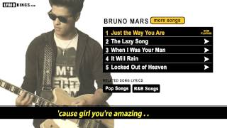Just The Way You Are - Bruno Mars (Lyric Video)