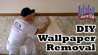 HOW TO  REMOVE WALLPAPER.  Wallpaper removal hacks.  Removing Wallpapers No Steamer Needed.