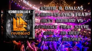 KSHMR & Dalla K-Burn vs Avicii Feat Nicky Romero vs Afrojack Feat Steve Aoki-No Beef-(RGBRT! Mashup)