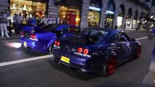 2 SKYLINE'S SPIT FLAMES | GUMBALL 3000 - 2014