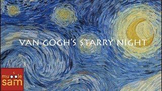 HOW TO PAINT VAN GOGH'S STARRY NIGHT MOON 🌘 5-Year-Old Artist Sophia