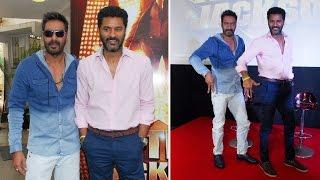 Ajay Devgan & Prabhudeva At Theme Song Launch Of Movie Action Jackson