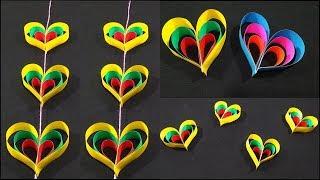 พับกระดาษเป็นรูปหัวใจ..น่ารักๆOrigami Heart Paperใช้ตกแต่งได้ทุกที่-ทุกงานเลี้ยงหรือตกแต่งจัดบอร์ด