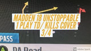 MADDEN 18 1 PLAY TD/ RIP COVER 4/ DEEP BOMB GLITCH ROUTE