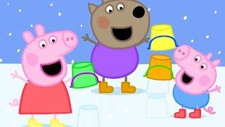 Peppa Pig in Hindi - Snow - Barf - हिंदी Kahaniya - Hindi Cartoons for Kids