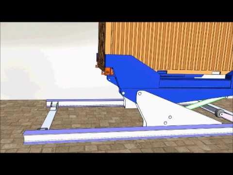 Eksan kardeşler için dikey konteyner yükleme aparatı